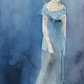 Jane Austen Watercolor Painting Art Print by Beverly Brown