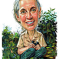 Jane Goodall by Art