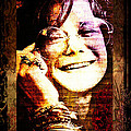 Janis Joplin - Upclose by Absinthe Art By Michelle LeAnn Scott