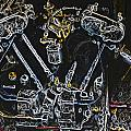 Jap Motorcycle Engine Digital Art by John Colley