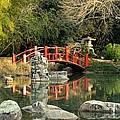 Japanese Bridge Over Water by Maria Urso