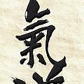 Japanese Calligraphy - Aikido by Serge Averbukh