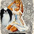 Japanese Chin Art - Una Parisienne Movie Poster by Sandra Sij