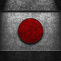 Japanese Flag Stone Texture by Brian Carson