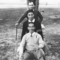 Japanese Golfers In America by Underwood Archives