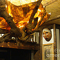 Japanese Handmade Chandelier With Mask And Plates by Feile Case