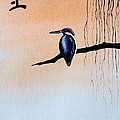 Japanese Kawasemi Kingfisher Feng Shui Earth by Gordon Lavender