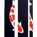 Japanese Koi Kohaku Division Painting by Gordon Lavender