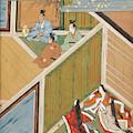 Japanese Ladies Behind Screen by British Library