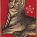 Japanese Matchbox Label With Tiger by Nop Briex