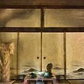 Japanese Tea Room by Peggy Hughes