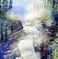 Jasper Athabasca Falls by Les Ducak