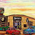 Java U Cafe Jean Talon Car Wash Coffee Shop Depanneur Montreal Art Sale Cspandau                     by Carole Spandau