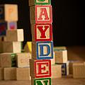 Jayden - Alphabet Blocks by Edward Fielding
