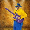 Jazz Guitar Man by Pamela Allegretto