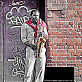 Jazz Man - Street Performer by Steve Ohlsen