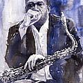 Jazz Saxophonist John Coltrane Blue by Yuriy  Shevchuk