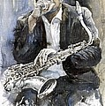 Jazz Saxophonist John Coltrane Yellow by Yuriy  Shevchuk