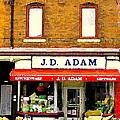 Jd Adam Kitchen Giftware The Glebe Streetscenes Storefronts Old Ottawa City Paintings C Spandau by Carole Spandau