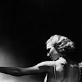 Jean Barry Holding A Pole by George Hoyningen-Huene