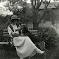 Jeanne Eagels Sitting Down On A Park Bench by Maurice Goldberg