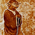 Jedi Master Yoda Digital From Original Coffee Painting by Georgeta Blanaru