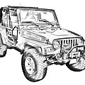 Jeep Wrangler Rubicon Illustration by Keith Webber Jr