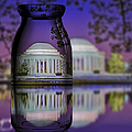 Jefferson Memorial In A Bottle by Susan Candelario