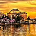 Jefferson Memorial Sunset by Nick Zelinsky