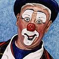 Watercolor Clown #11 Jeffrey Potts  by Patty Vicknair