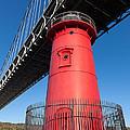 Jeffrey's Hook Lighthouse I by Clarence Holmes
