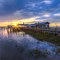 Jekyll Island Sunset by Debra and Dave Vanderlaan