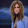 Jennifer Aniston Painting by Paul Meijering