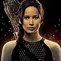 Jennifer Lawrence As Katniss Everdeen by Movie Poster Prints