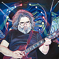 Jerry Garcia And Lights by Joshua Morton