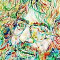 Jerry Garcia Watercolor Portrait.1 by Fabrizio Cassetta