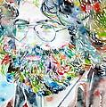 Jerry Garcia Watercolor Portrait.2 by Fabrizio Cassetta