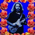 Jerry In Blue With Rose Frame by Ben Upham