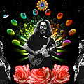 Jerry Spacepods Triple Jerry Ufo Roses Under Cosmic Sun by Ben Upham