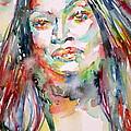 Jessye Norman - Watercolor Portrait by Fabrizio Cassetta