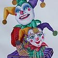 Jesters On Bourbon Street  by Rhonda Leonard
