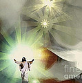 Jesus Abstract by Femina Photo Art By Maggie