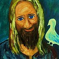 Jesus And Dove by Esther Rowden