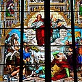 Jesus Angels Stained Glass Painting Inside Cologne Cathedral Germany by Imran Ahmed