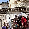 Jesus Christ And Roman Soldiers On Procession Platform by Artur Bogacki