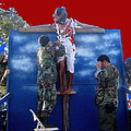 Jesus Christ Float 60th Anniversary Of The Landing On Iwo Jima In Ww2 Sacaton Arizona 2005 by David Lee Guss