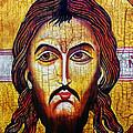 Jesus Christ Mandylion by Ryszard Sleczka
