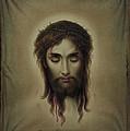 Jesus Christus Portrait By Martie Circa 1876 by George Pedro
