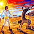 Jesus Evicting A Demon by Arthur Robins