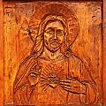 Jesus From A Door Panel At Santuario De Chimayo by Alan Vance Ley